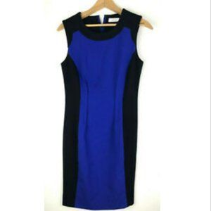 Calvin Klein Dress 4 Royal Cobalt Blue Black